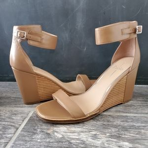 NEW Linea Paolo Elodie Wedge Brown Sandal